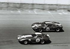 GT40 Daytona and Coupe...    Shelby American cars at the 1965 Daytona 2000 Km. by Nigel Smuckatelli, via Flickr