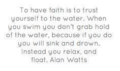 Alan Watts on faith