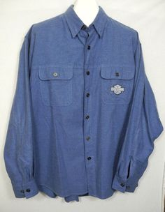 7aa67adc2ec Harley Davidson Motorcycles Embroidered Shirt Button Front Spellout Mens XL   HarleyDavidson  ButtonFront Mens Xl