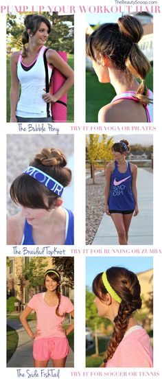 workout hair style ideas