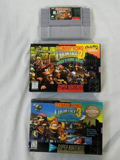 shopgoodwill.com: SNES Games Lot-Donkey Kong Country 1-2
