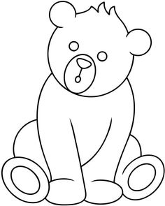 Teddy Bear Feeling Sad Printable Coloring Pages line