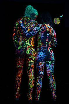 glow in the dark body paint - Google Search