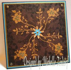 Floral Faux Tooled Leather by Zindorf - Cards and Paper Crafts at Splitcoaststampers