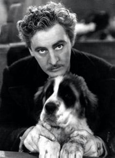 Actor john barrymore and his dog. Old Hollywood Movies, Golden Age Of Hollywood, Vintage Hollywood, Classic Hollywood, Barrymore Family, John Barrymore, Silent Film Stars, Movie Stars, Star Show