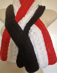 Kilda - Support your team in style - AFL Headbands, Beanies, Hats. Scarves and Neck-warmers. All individually designed by Bar-Bar-A-Black Sheep and made to order. St Kilda, Black Sheep, Neck Warmer, Beanies, Headbands, Scarves, Football, Bar, Design