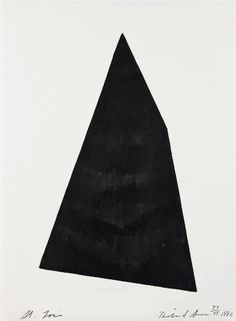 Artwork by Richard Serra, St. Louis, Made of monotype and paintstik on German etching paper