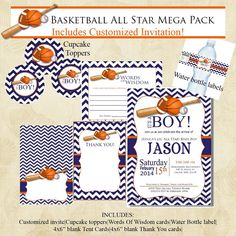 Hey, I found this really awesome Etsy listing at https://www.etsy.com/listing/181030990/basketball-chevron-sports-baby-shower