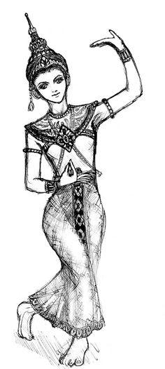 Thai dancing +sketch - 2 + by dathaiclub.deviantart.com on @deviantART
