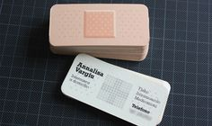 Nurse band-aid shaped business card. These are so cute and creative!
