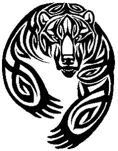 This would go nice on the arm I think, or right above the celtic bear claw on the right chest pec Tribal Bear Tattoo, Tribal Animal Tattoos, Tribal Tattoos Native American, Tribal Animals, Tribal Tattoo Designs, Tribal Art, Tattoo Animal, Tattoos Skull, Body Art Tattoos