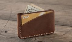 Leather Card Pouch for Dad, Leather Wallet for your Dad