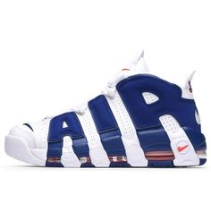 2017 2018 Daily Nike Air More Uptempo Knicks White Deep Royal Blue Team Orange Basketball Shoe For Sale Nike Shoes For Sale, Nike Free Shoes, Shoe Sale, Orange Basketball Shoes, Men's Basketball, Blue Toes, Nike Free Runners, Nike Shoes Outfits, Lv Handbags