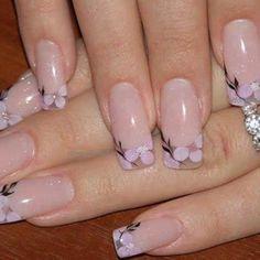 35 Simple Ideas for Wedding Nails Design Cute Nail Art, Beautiful Nail Art, Gorgeous Nails, Cute Nails, Pretty Nails, Fabulous Nails, Beautiful Flowers, Floral Nail Art, Wedding Nails Design