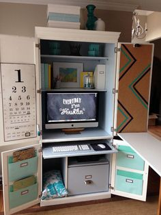 This is perfect... redo the cabinet in the den for craft supplies and kiddo project ideas...