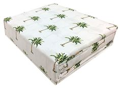 Tropical Beach Palm Tree Sheet Set 4pc King Double 100% Cotton Green Brown Palm Tree Leaves Design Panama Jack http://www.amazon.com/dp/B00VMQM3QK/ref=cm_sw_r_pi_dp_sbrjvb08FQPDE