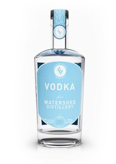 Watershed Vodka is made of 100% corn grown in the Midwest, and is quadruple-distilled, giving the spirit a light body and smooth drinkability.