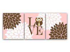 Nursery Wall Art Baby Girl Nursery Art Print Owl Nursery Bedding Decor Girls Room Wall Art LOVE Nursery Print - KIDS125 by WallArtBoutique on Etsy https://www.etsy.com/listing/193042552/nursery-wall-art-baby-girl-nursery-art