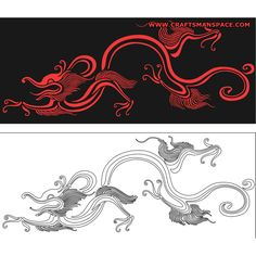 Symbol and history patterns Dragon Japanese Tattoo, Japanese Tattoo Art, Dragon Illustration, Dragon Pattern, Chinese Design, Hand Applique, Japanese Embroidery, Silk Painting, Vector Pattern
