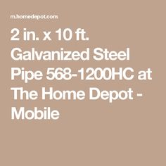Galvanized Steel Pipe 568 1200HC At The Home