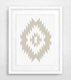 Aztec Print Southwestern Aztec Prints Aztec by MelindaWoodDesigns #wallprint