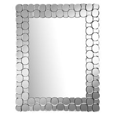 Wall mirror with circular overlay.   Product: Wall mirrorConstruction Material: Mirrored glassFeature...