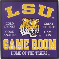 LSU-101 LSU GAME ROOM  Buy @ www.edillc.com