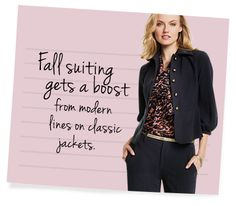 """Style Tips - Archive - Cabi Fall 2015 Collection--I could use a belt like the one shown here. Probably 24"""" or 25"""" waist so that I can wear it higher with a skirt."""