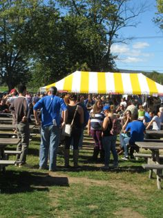 This was the line waiting for the absolutely delicious Adirondack Creamery ice cream at the Taste of New Paltz!