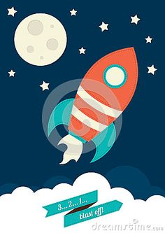 Space Rocket illustration.
