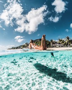 "Debi Flügge | Vegan Diet (@debiflue) on Instagram: ""if in doubt paddle out never wanna leave this beautiful place @stregismauritius #liveexquisite…"""