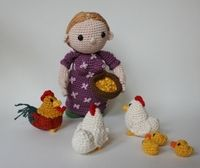 Farmer's wife and chickens