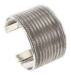 Fine Weave Brass Silver-tone Handmade Cuff Bracelet https://sitaracollections.com/collections/bracelets-cuffs-and-bangles/products/fine-weave-brass-cuff