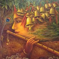 Art by Rakhi Baid Krishna Painting, Krishna Art, Hare Krishna, Fantasy Images, Art Images, Lord Krishna Images, Art Deco Posters, India Art, Acrylic Painting Techniques