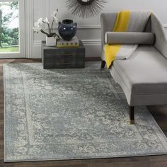 Shop for Safavieh Adirondack Vintage Distressed Slate Grey/ Ivory Rug (3' x 5'). Free Shipping on orders over $45 at Overstock.com - Your Online Home Decor Outlet Store! Get 5% in rewards with Club O! - 18561408