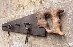 Reclaimed Vintage Saw: Key Rack / Coat Hanger by DerelictDesign