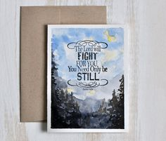 Hand painted cards Watercolor card Christian Stationery
