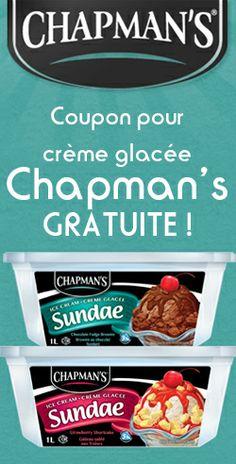 Crème glacée Chapman's gratuite.  http://rienquedugratuit.ca/nourriture/creme-glacee-chapmans-gratuite/
