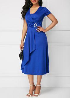 Buy Best Selling Fashion Women's Chic Large Size Asymmetric Hem Evening Dress Mini Dress at Wish - Shopping Made Fun Elegant Dresses, Sexy Dresses, Women's Fashion Dresses, Vintage Dresses, Casual Dresses, Summer Dresses, Short Sleeve Dresses, Long Dresses, Beautiful Dresses