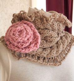 Julia+Cowl+PDF+Hand+Knitting+Pattern+por+KnitChicGrace+en+Etsy,+$4.50