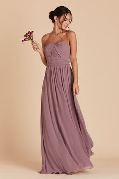 10f3a7aad68 5 Unique Bridesmaid Color Pairings For A Fall Wedding. Dusty Purple Bridesmaid  DressesWedding Bridesmaid FlowersGrey BridesmaidsFlattering ...