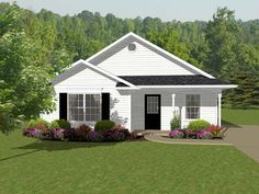 Small house floor plans are usually affordable to build and can have big curb appeal. Explore many styles of small homes, from cottage plans to Craftsman designs. Cottage Style House Plans, Cottage Floor Plans, Cottage Style Homes, Ranch House Plans, Cottage House Plans, Country House Plans, Country Homes, Small House Floor Plans, Colonial Style Homes