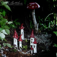 Pixie Hill: Cute Pixie Houses with red roofs