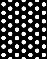 Resultado de imagem para estampa de bolinha preta e branca