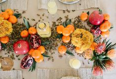 How to Style an Edible Centerpiece - A Beautiful Mess Edible Centerpieces, Centrepieces, Grazing Tables, Christmas Decorations, Table Decorations, Beautiful Mess, Autumn Leaves, Haha, Table Settings