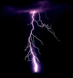 We learned a lot about lightening in class. This is a picture of a step leader because it is coming from the clouds. Lightening that comes from the ground up is called positive streamers. Also, I learned that when you are in a car you can not be electrocuted because the lightening will travel on the outside on the car and into the ground. Lightning Bolt Tattoo, Ride The Lightning, Lightning Strikes, Lightning Storms, Beautiful Sky, Beautiful Landscapes, Lightning Photography, Weather Art, Blinded By The Light