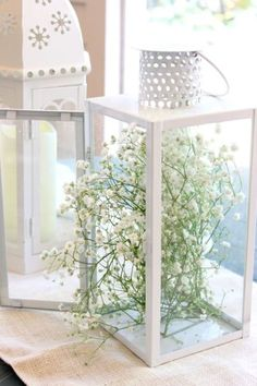 Hardy yet willowy baby's breath gives an angular lantern a secret-garden vibe. Get the tutorial at Melissa Creates »