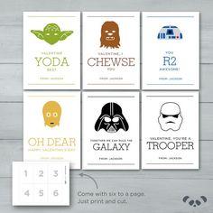 Star Wars Valentines    Yoda Darth Vader by PandafunkCreations