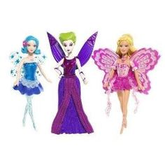 Mattel Barbie Fairytopia Magic Of The Rainbow Mini Dolls Gift Pack Azura, Laverna, and Elina