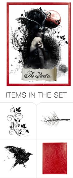 """The High Priestess"" by matildaaah ❤ liked on Polyvore featuring art"